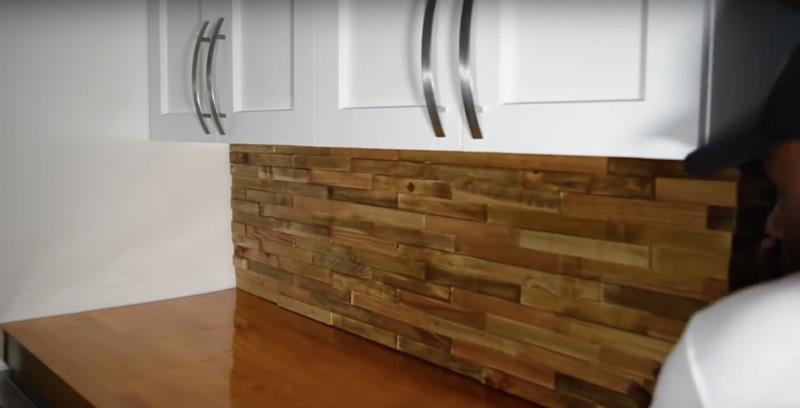 Best ideas about Wood Backsplash DIY . Save or Pin How to Make DIY Wood Pallet Backsplash Page 3 of 3 Now.