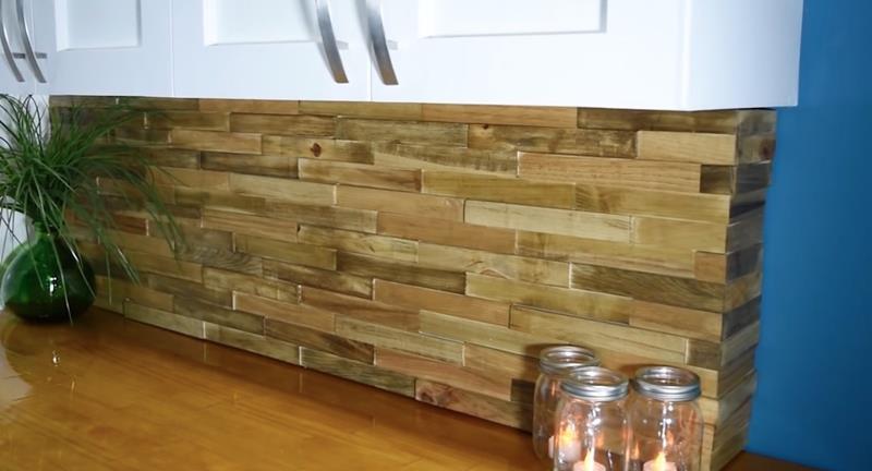 Best ideas about Wood Backsplash DIY . Save or Pin How to Make DIY Wood Pallet Backsplash Now.