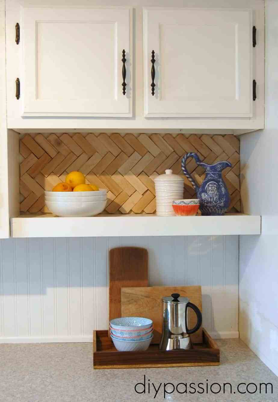 Best ideas about Wood Backsplash DIY . Save or Pin Easy and inexpensive back splash ideas Now.
