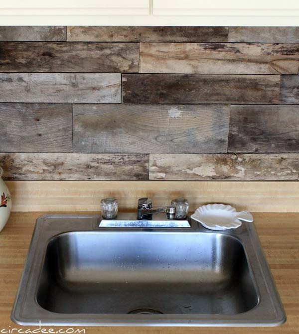 Best ideas about Wood Backsplash DIY . Save or Pin 24 Cheap DIY Kitchen Backsplash Ideas and Tutorials You Now.