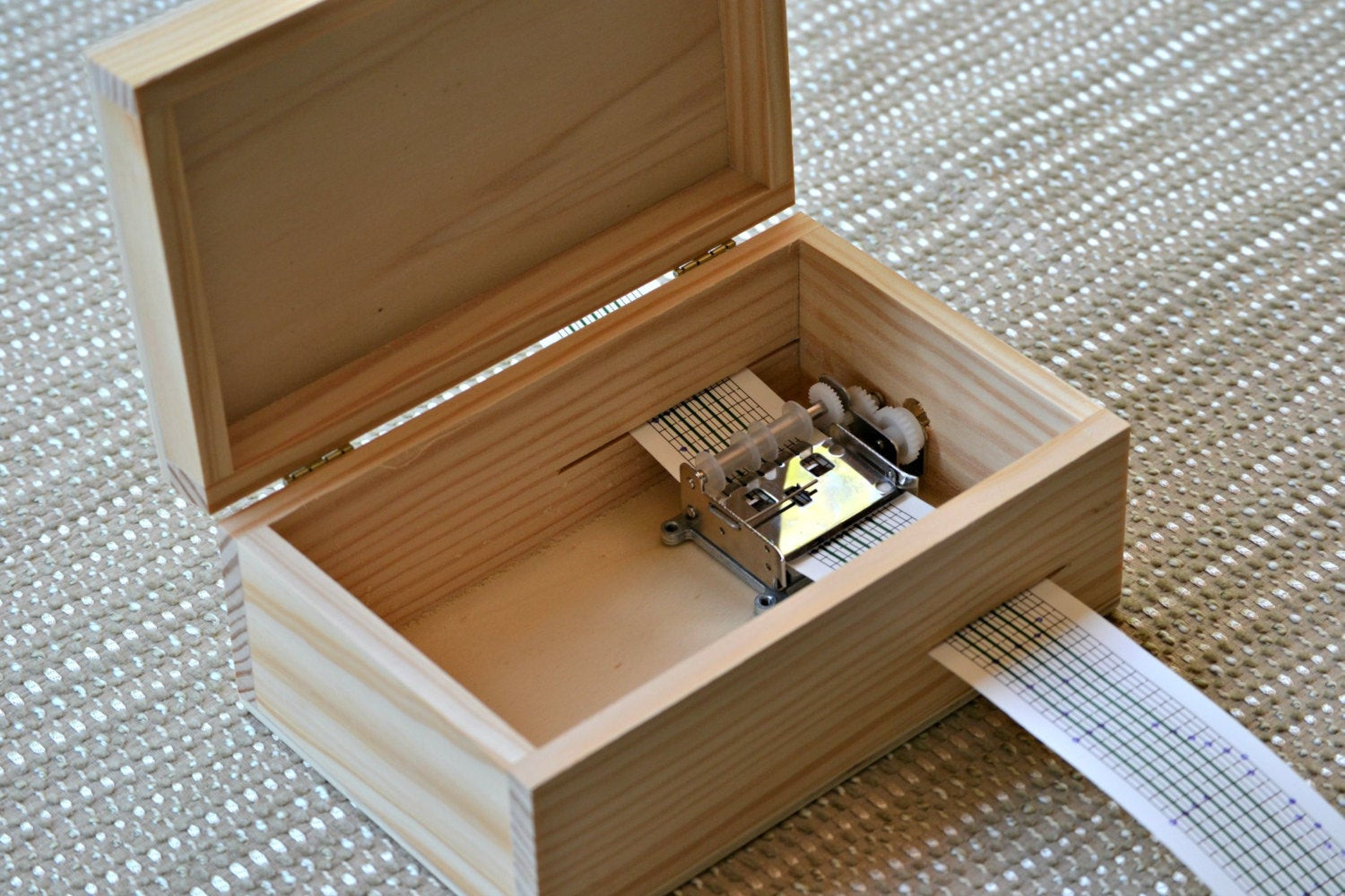 Best ideas about Wood Boxes DIY . Save or Pin DIY Music Box Wood Box with locker Hand cranked Musical Now.