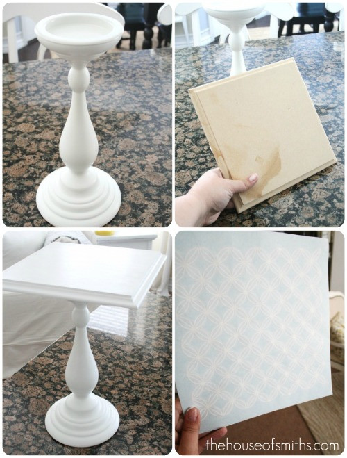 Best ideas about Wood Cake Stand DIY . Save or Pin DIY Stenciled Cake Stand Now.