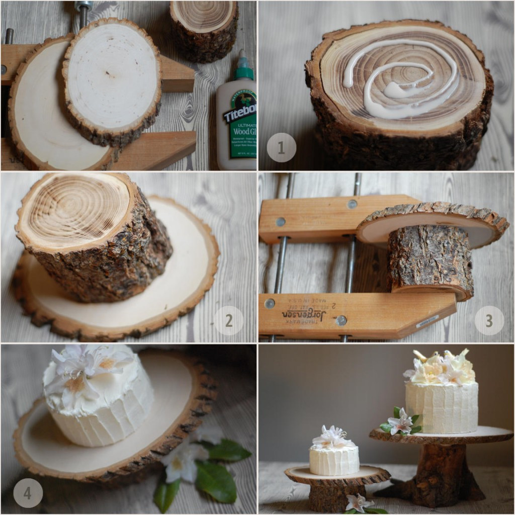 Best ideas about Wood Cake Stand DIY . Save or Pin DIY Rustic Wedding Cake Stand ce Wed Now.