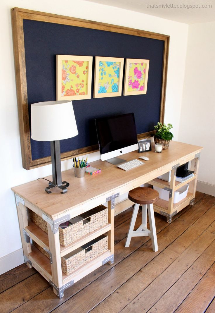 Best ideas about Wood Desk DIY . Save or Pin Best 25 Custom desk ideas on Pinterest Now.