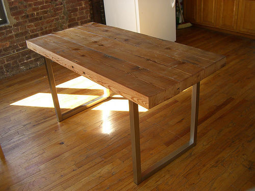 Best ideas about Wood Desk DIY . Save or Pin Reclaimed Wood Table 5 Steps with Now.