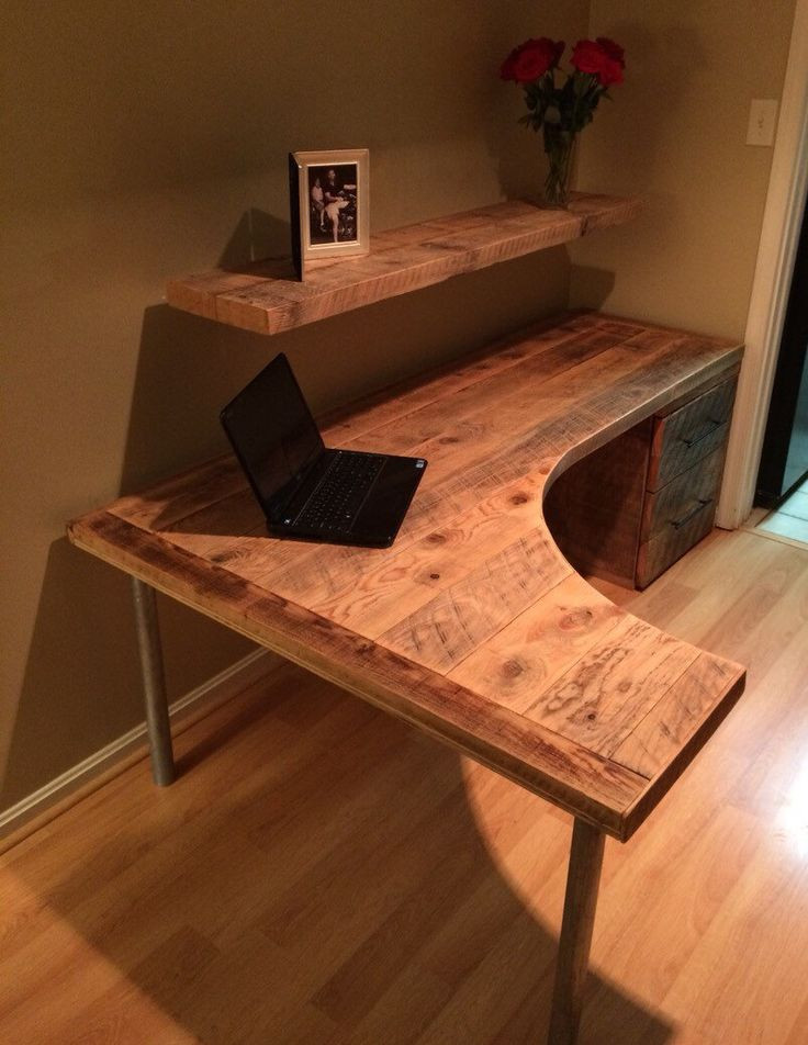 Best ideas about Wood Desk DIY . Save or Pin DIY puter Desk Ideas Space Saving Awesome Picture Now.
