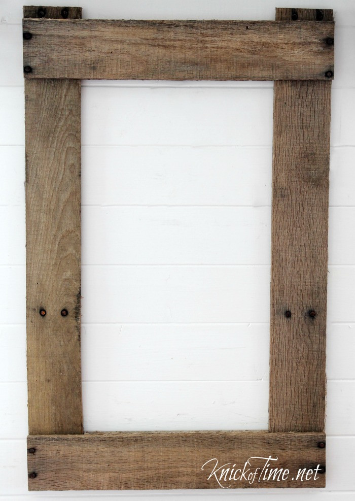 Best ideas about Wood Picture Frames DIY . Save or Pin DIY Rustic Frame Seed Bag via KnickofTime Now.