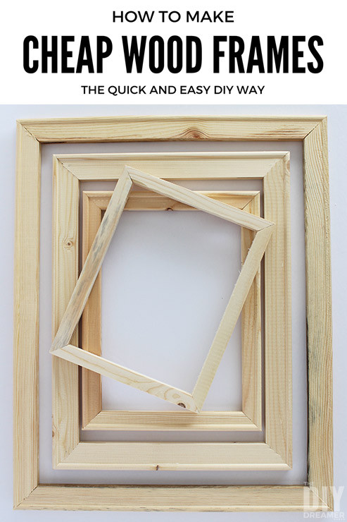 Best ideas about Wood Picture Frames DIY . Save or Pin How to Make Cheap Wood Frames the Quick and Easy DIY Way Now.