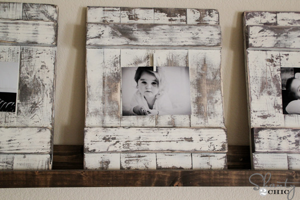 Best ideas about Wood Picture Frames DIY . Save or Pin Chippy Wooden Picture Frame Shanty 2 Chic Now.