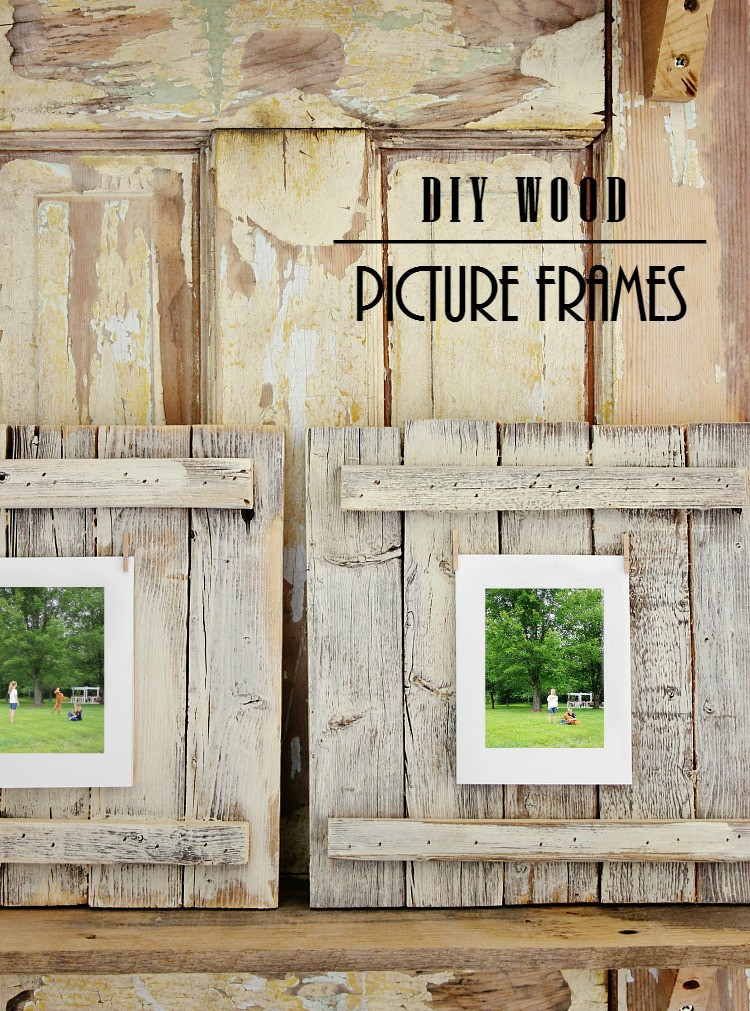 Best ideas about Wood Picture Frames DIY . Save or Pin Easy DIY Wood Picture Frame Project Thistlewood Farm Now.