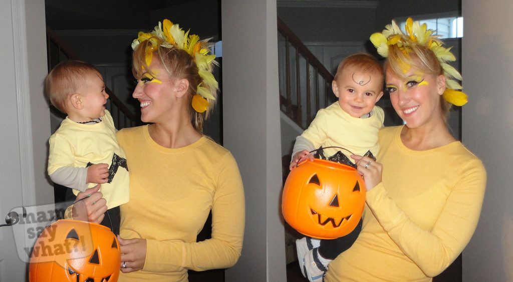 Best ideas about Woodstock Costume DIY . Save or Pin Mom and baby DIY Halloween costumes Charlie Brown and Now.