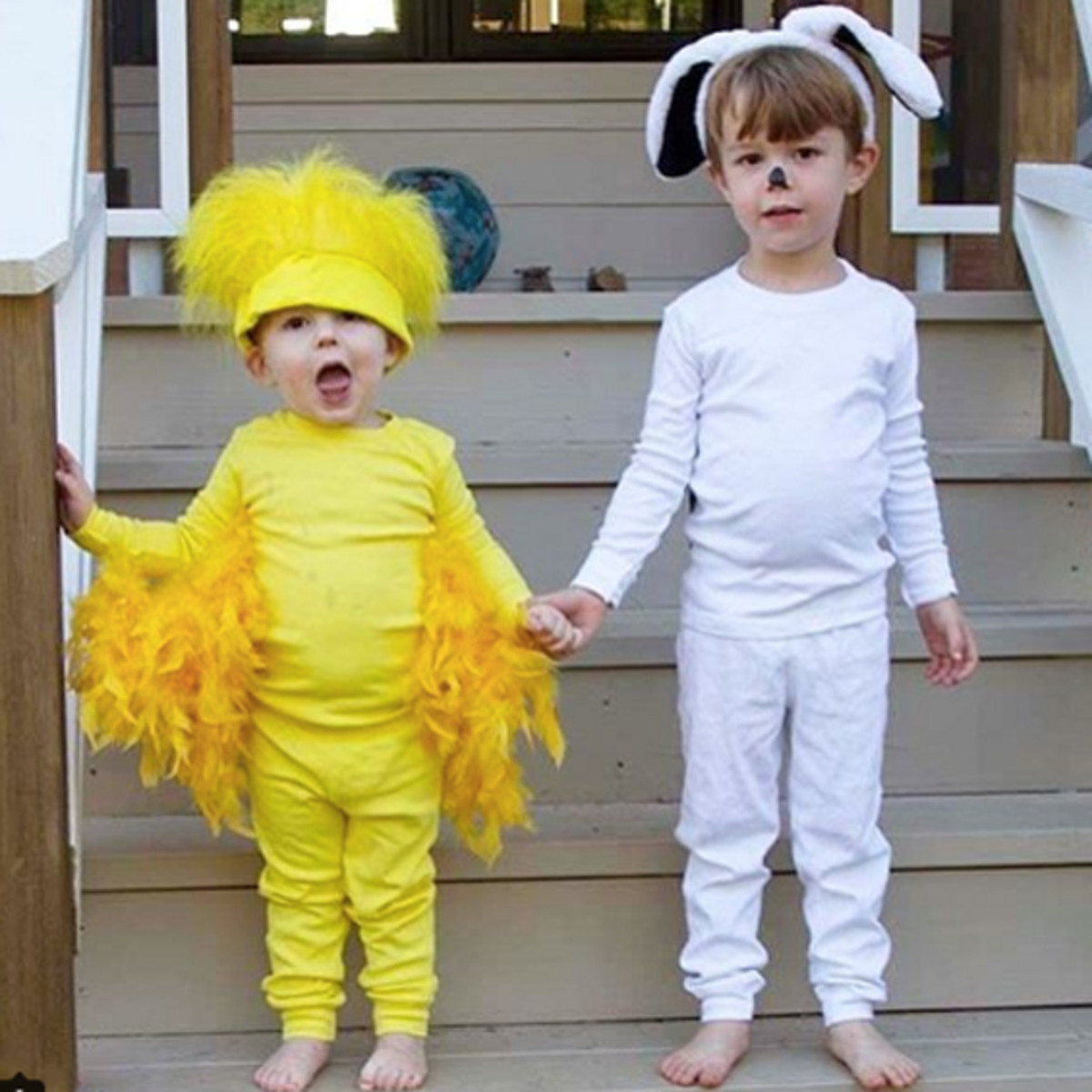 Best ideas about Woodstock Costume DIY . Save or Pin No Sew DIY Snoopy and woodstock Kids Costume Now.