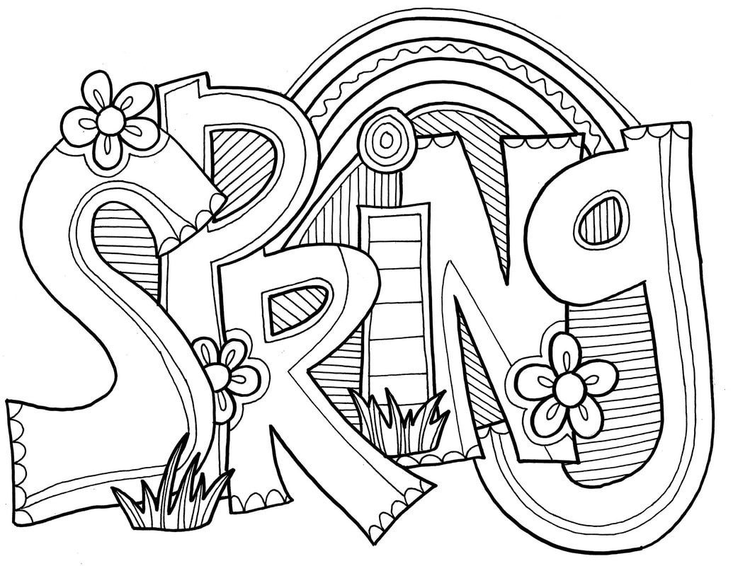 Best ideas about Word Coloring Pages For Kids . Save or Pin Spring Coloring Pages Best Coloring Pages For Kids Now.