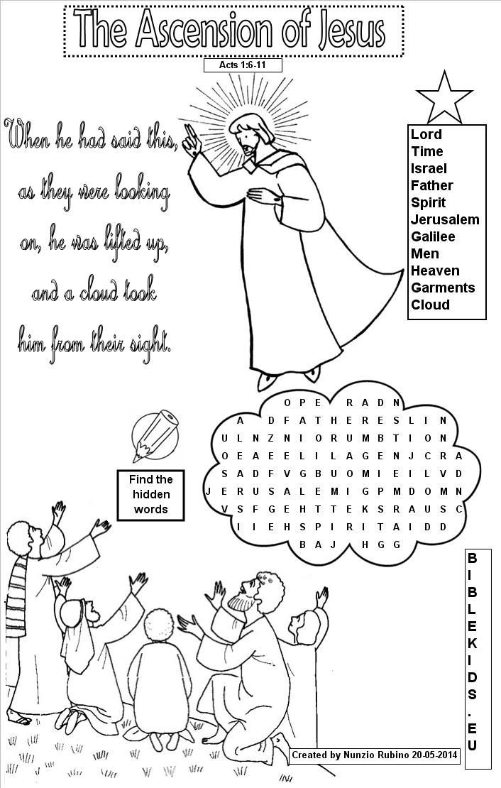 Best ideas about Word Coloring Pages For Kids . Save or Pin word search for Ascension of Jesus Google Search Now.