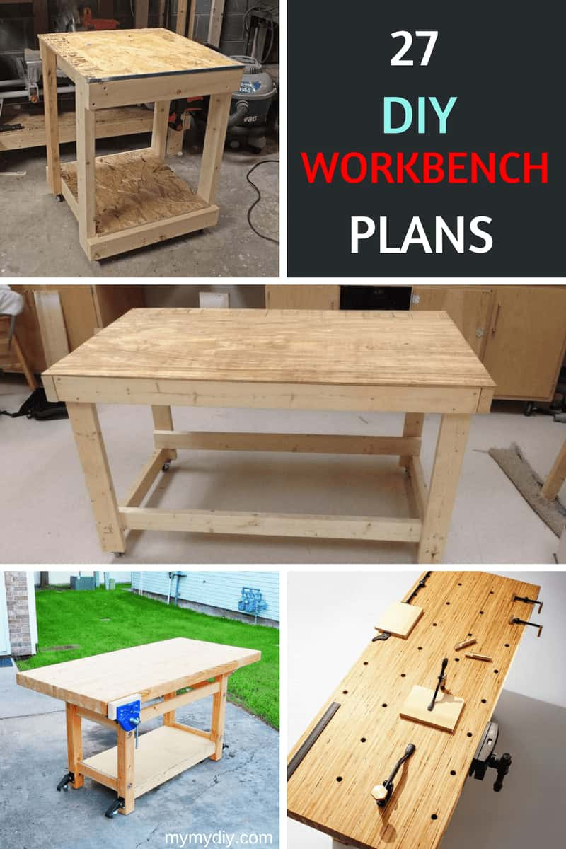 Best ideas about Work Bench DIY . Save or Pin 27 Sturdy DIY Workbench Plans [Ultimate List] MyMyDIY Now.