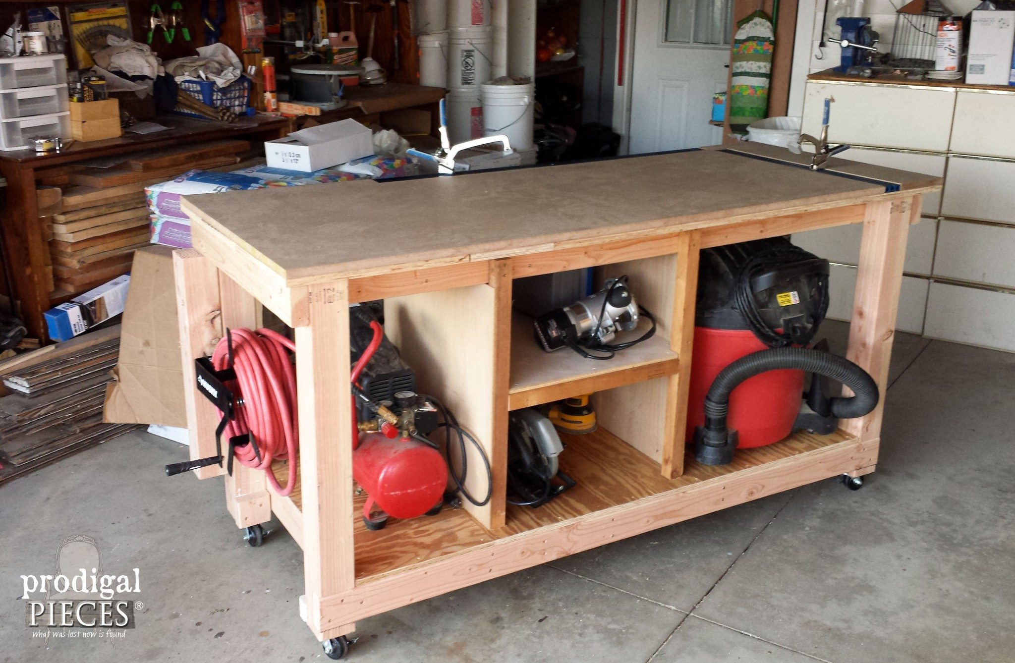 Best ideas about Work Bench DIY . Save or Pin DIY Workbench Fit for a Junker Prodigal Pieces Now.
