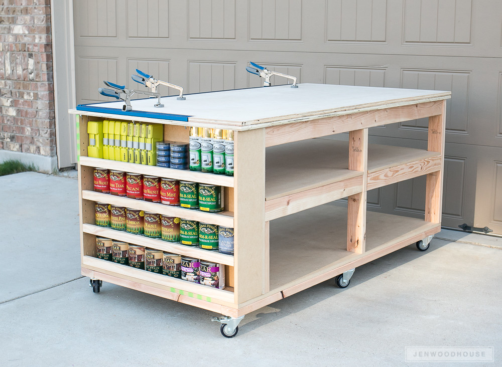 Best ideas about Work Bench DIY . Save or Pin How To Build A DIY Mobile Workbench With Shelves Now.