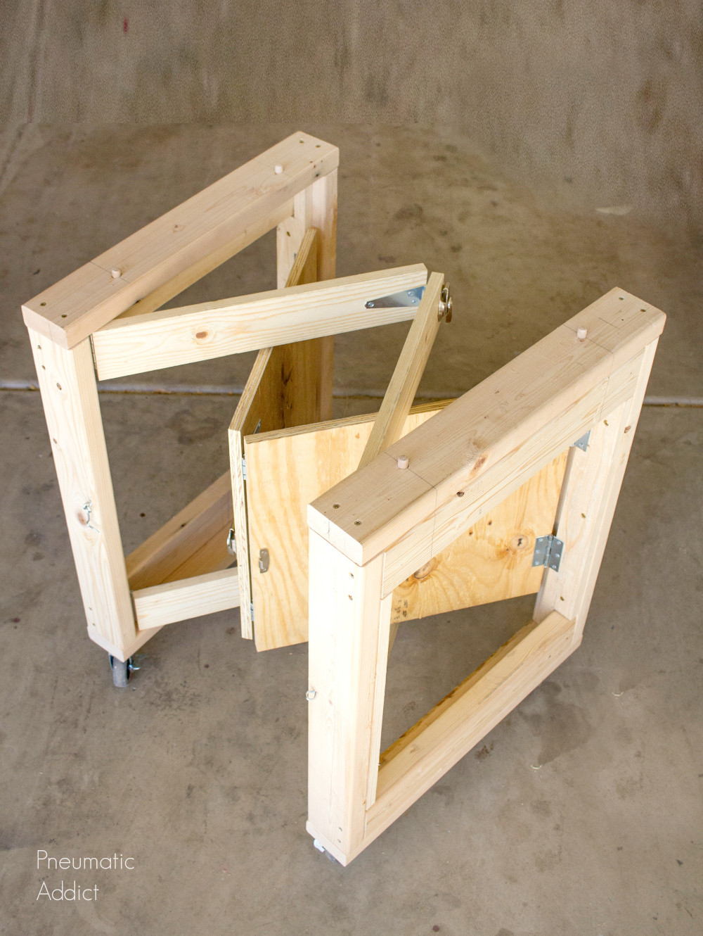 Best ideas about Work Bench DIY . Save or Pin DIY Folding Mobile Workbench Modifications Now.