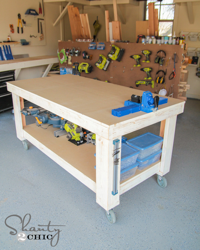 Best ideas about Work Bench DIY . Save or Pin New Year New Workbench Baby Shanty 2 Chic Now.