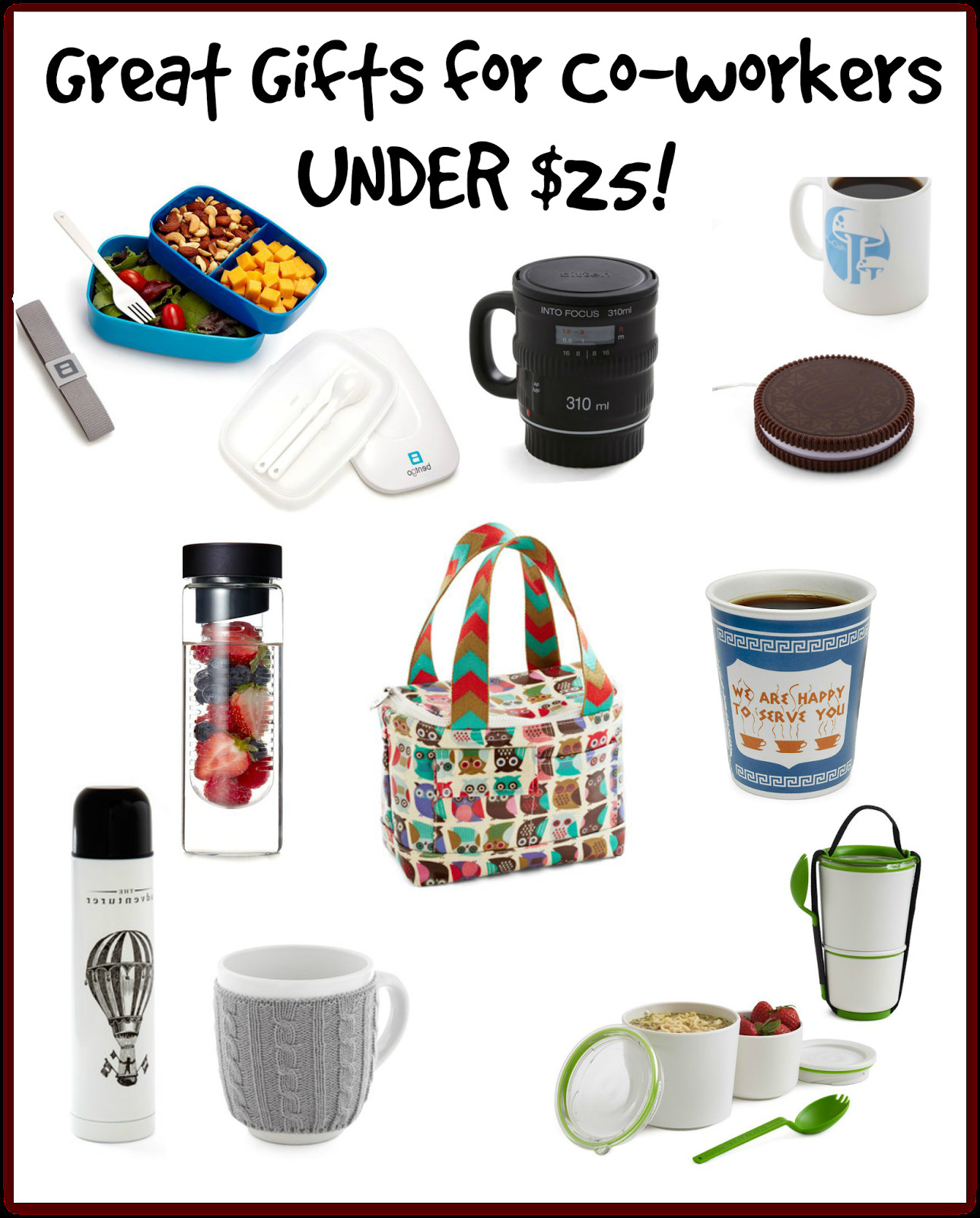 Best ideas about Work Christmas Gift Ideas . Save or Pin A BEAUTIFUL LITTLE LIFE Gifts for Co Workers Colleagues Now.