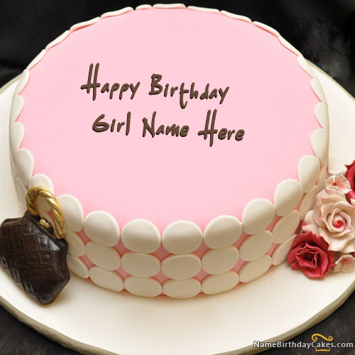 Best ideas about Write Name On Birthday Cake . Save or Pin Write name on Pink Birthday Cake For Girls Happy Now.