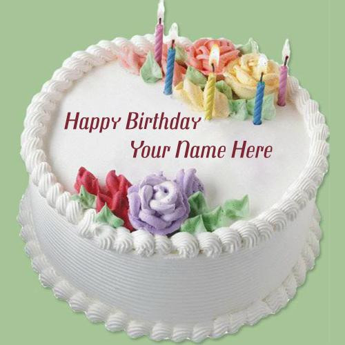 Best ideas about Write Name On Birthday Cake . Save or Pin Write A Name A Birthday Cake A Birthday Cake Now.
