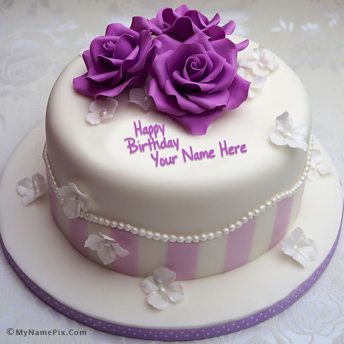 Best ideas about Write Name On Birthday Cake . Save or Pin Write Your Name Pretty Rose Birthday Cake Picture Now.