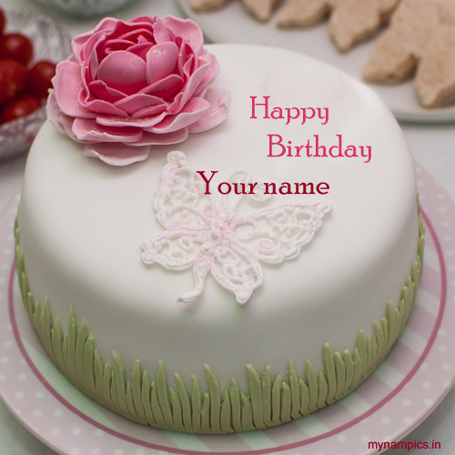 Best ideas about Write Name On Birthday Cake . Save or Pin Write name on rose flower birthday cake pics Now.