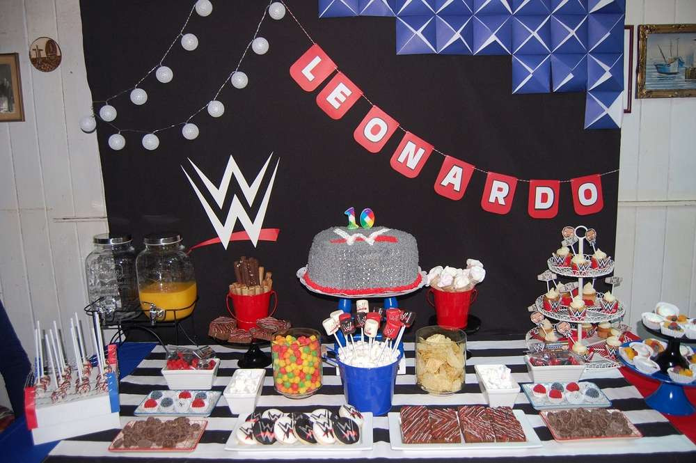 Best ideas about Wwe Birthday Decorations . Save or Pin WWE Theme Birthday Party – VenueMonk Blog Now.