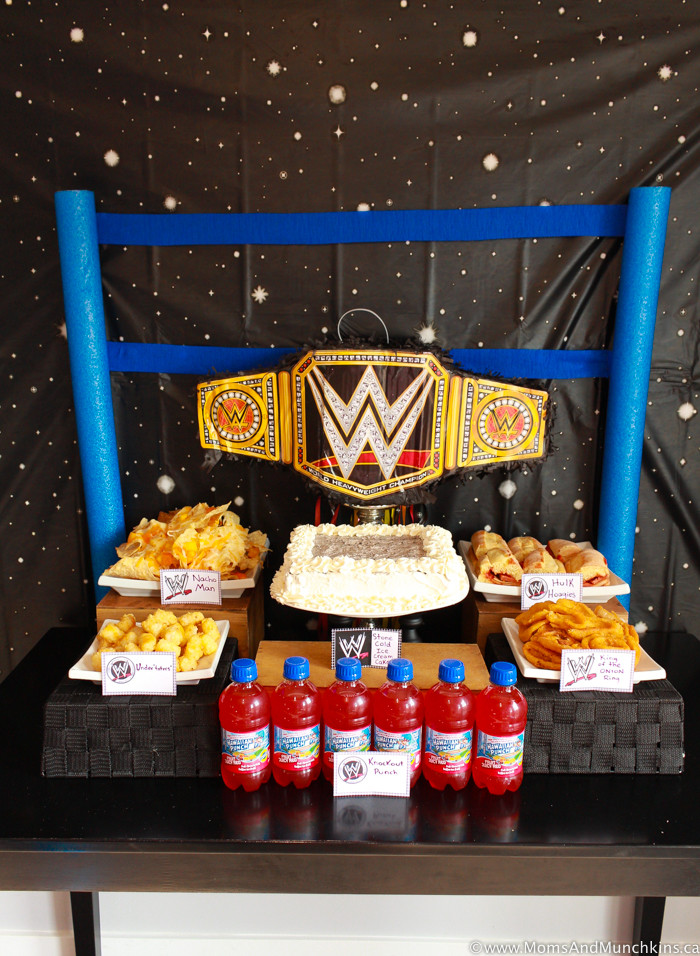 Best ideas about Wwe Birthday Decorations . Save or Pin WWE Birthday Party Ideas for Kids Moms & Munchkins Now.