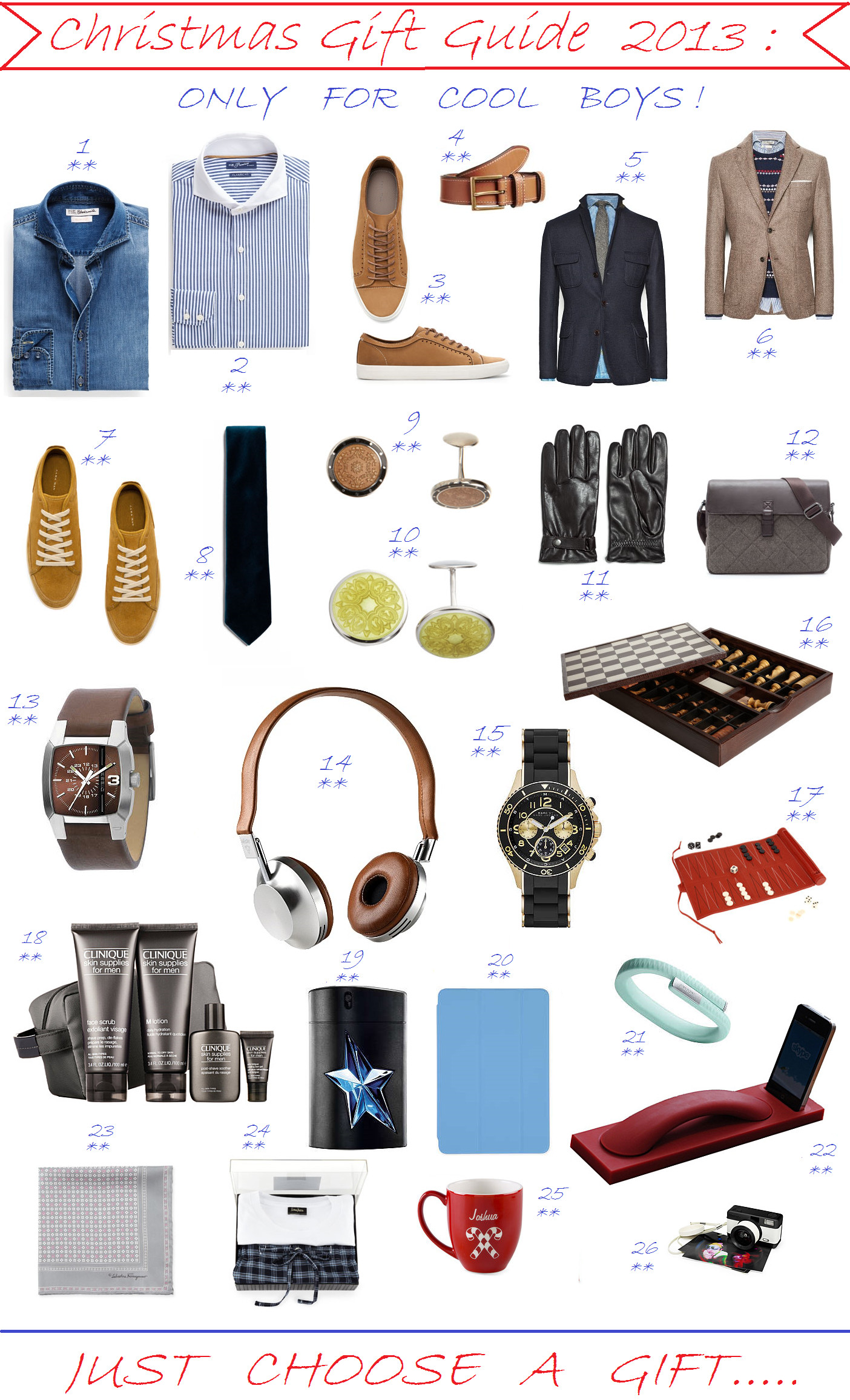 Best ideas about Xmas Gift Ideas For Boys . Save or Pin CHRISTMAS GIFT GUIDE 2013 ONLY FOR COOL BOYS Now.