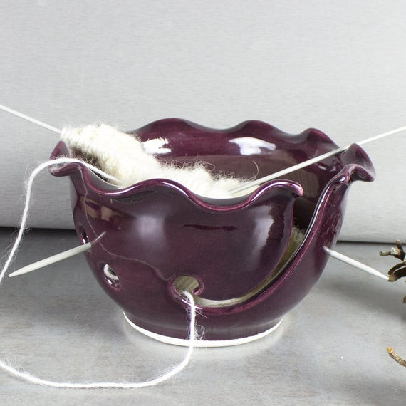 Best ideas about Yarn Bowl DIY . Save or Pin Ceramic Yarn Bowl Knitting Bowl Craft tool diy Wheel thrown Now.