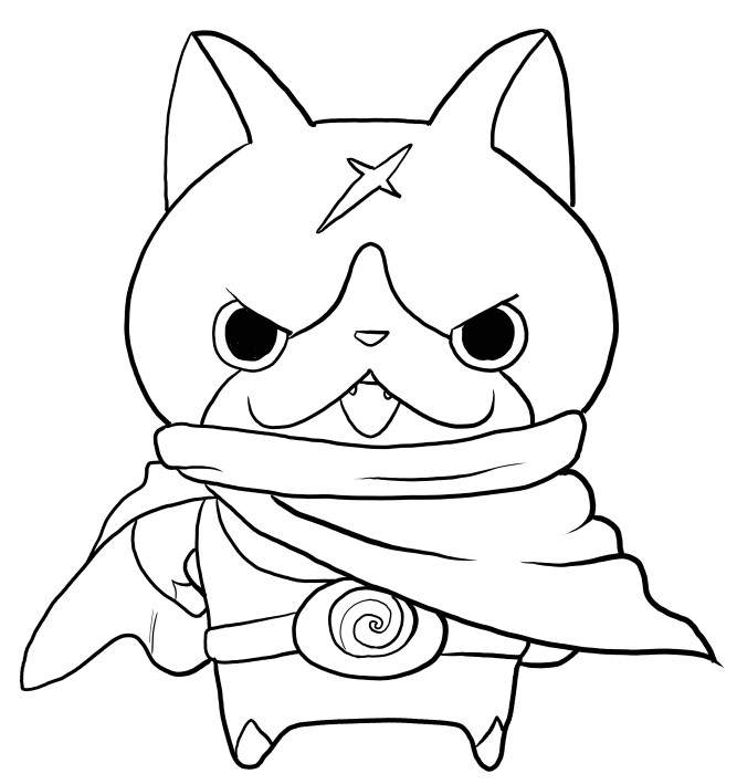 Best ideas about Yo Kai Printable Coloring Pages . Save or Pin Hovernyan from Yo Kai Watch coloring pages Now.