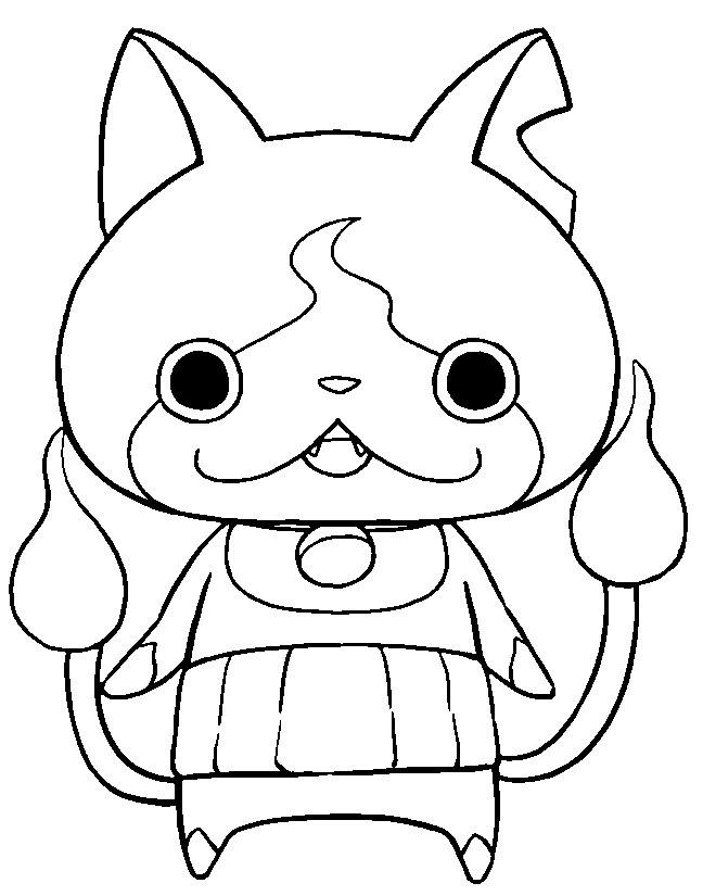 Best ideas about Yo Kai Printable Coloring Pages . Save or Pin Dibujos de Yo Kai Watch para colorear e imprimir Now.