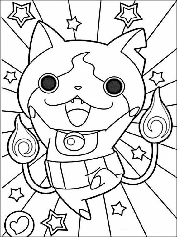 Best ideas about Yo Kai Printable Coloring Pages . Save or Pin Yo kai Watch Coloring Pages 4 Now.