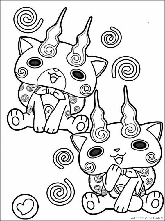 Best ideas about Yo Kai Printable Coloring Pages . Save or Pin Watch Yo Kai Coloring Pages Sketch Coloring Page Now.