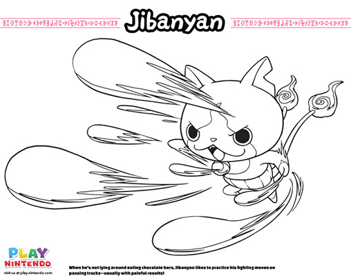 Best ideas about Yo Kai Printable Coloring Pages . Save or Pin YO KAI WATCH Coloring Pages Play Nintendo Now.