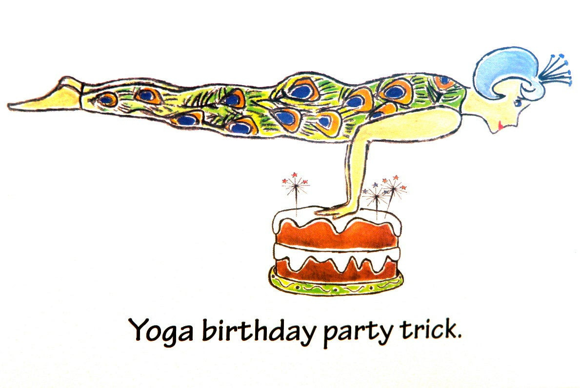 Best ideas about Yoga Birthday Wishes . Save or Pin Yoga Birthday Card Say Happy Birthday with a smile Just Now.