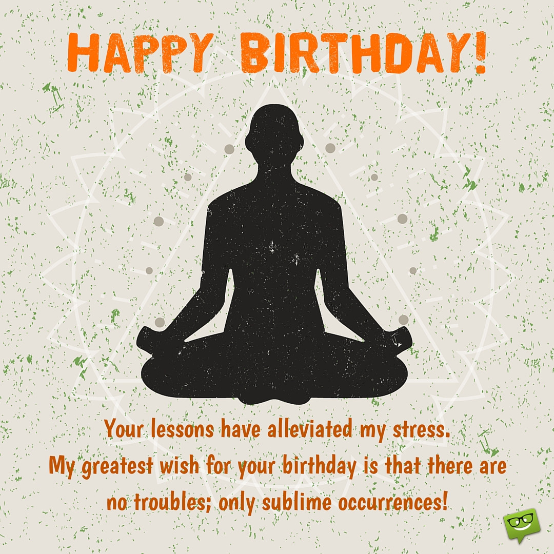 Best ideas about Yoga Birthday Wishes . Save or Pin Birthday Yoga Cards Wishes Cake & SMS Wishes Now.