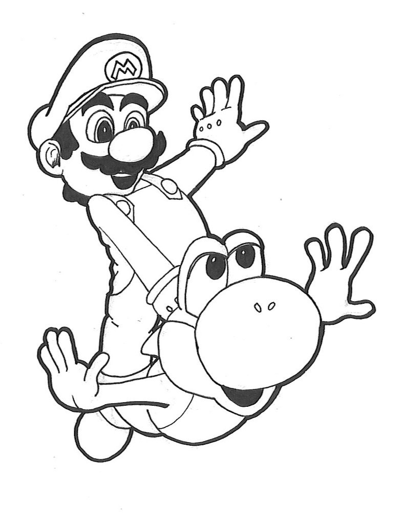 Best ideas about Yoshi Coloring Pages For Kids . Save or Pin Free Printable Yoshi Coloring Pages For Kids Now.