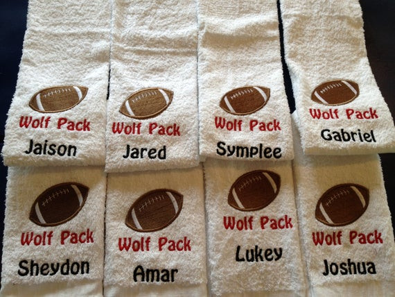 Best ideas about Youth Football Gift Ideas . Save or Pin Items similar to personalized custom emberoidered football Now.
