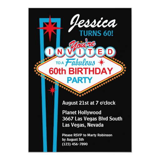 Best ideas about Zazzle Birthday Invitations . Save or Pin Las Vegas 60th Birthday Party Invitation Now.