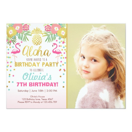 Best ideas about Zazzle Birthday Invitations . Save or Pin Flamingo party invitation Tropical Birthday luau Now.