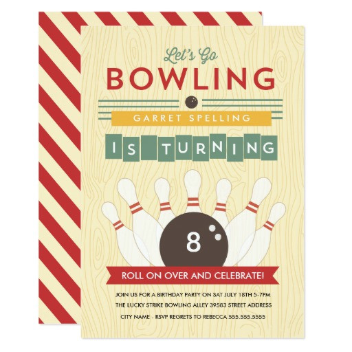 Best ideas about Zazzle Birthday Invitations . Save or Pin Let s Bowl Birthday Party Invitation Now.