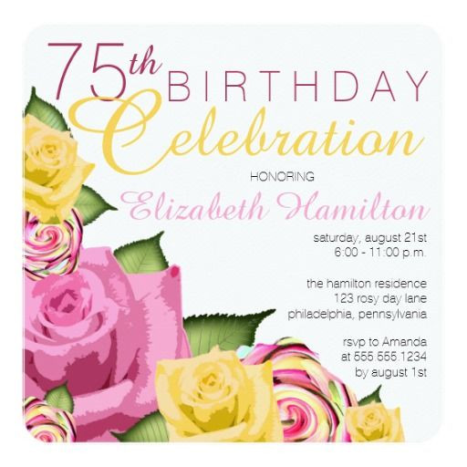 Best ideas about Zazzle Birthday Invitations . Save or Pin 61 best 75th Birthday Invitations images on Pinterest Now.