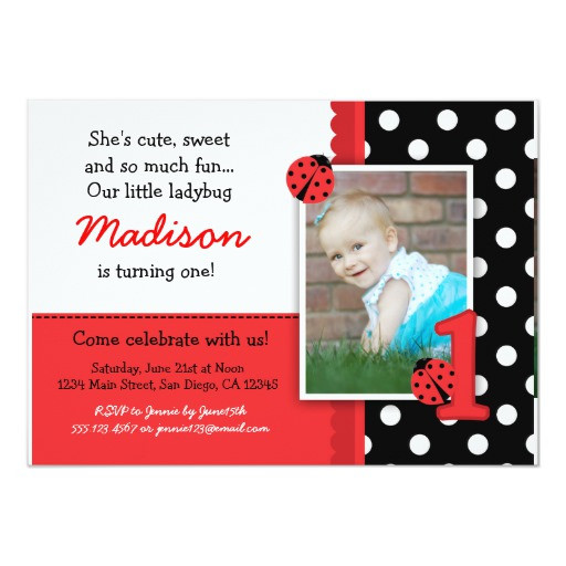 Best ideas about Zazzle Birthday Invitations . Save or Pin Red ladybug 1st Birthday Invitations Now.