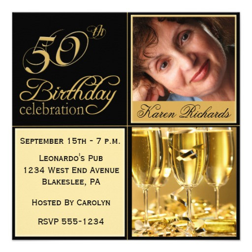 """Best ideas about Zazzle Birthday Invitations . Save or Pin Elegant 50th Birthday Party Invitations 5 25"""" Square Now."""