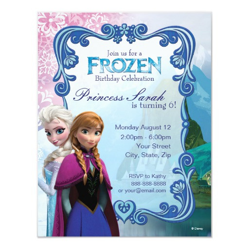 Best ideas about Zazzle Birthday Invitations . Save or Pin Frozen Birthday Invitation Now.