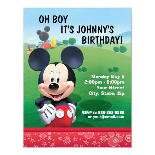 Best ideas about Zazzle Birthday Invitations . Save or Pin Mickey Mouse Birthday Invitation Now.