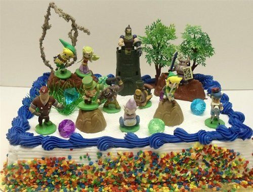 Best ideas about Zelda Birthday Cake . Save or Pin Legend of Zelda Birthday Cake Topper Set Featuring Link Now.